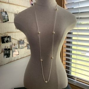 💛 Large and Small Faux Pearl Beaded Necklace